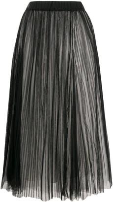 Brunello Cucinelli Full Shape Pleated Tulle Skirt