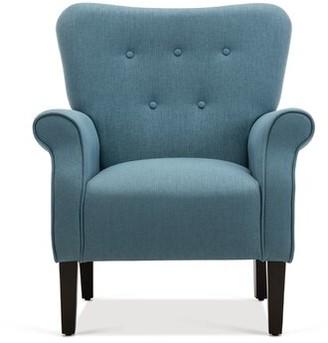 Andover Mills Louisburg Armchair Fabric: Blue 100% Linen