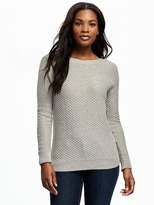 Old Navy Relaxed Textured Boat-Neck Sweater for Women