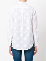 Xacus patched button-up shirt - women - Cotton/Linen/Flax - 42