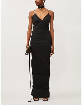 Rick Owens Maillot zipped woven maxi dress