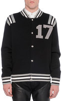 "Givenchy 17"" Knit Varsity Jacket, Black"