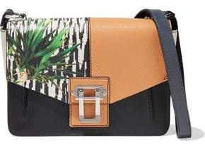 Proenza Schouler Hava Color-block Smooth And Textured-leather Shoulder Bag