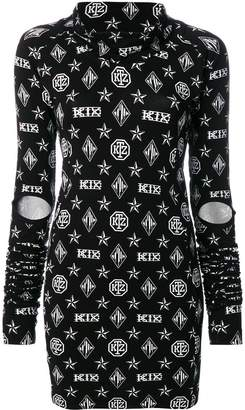 Kokon To Zai Logo Embroidered Dress