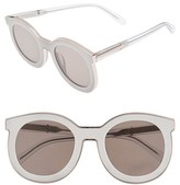 Karen Walker Women's 'Super Spaceship - Arrowed By Karen' 52Mm Sunglasses - Crystal Clear/ Gold