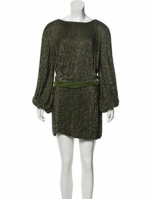 retrofete Scoop Neck Mini Dress w/ Tags Green