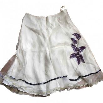 Tara Jarmon White Silk Skirt for Women