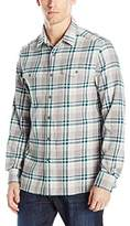 Kenneth Cole Reaction Men's LS 2 Pkt Plaid FLN