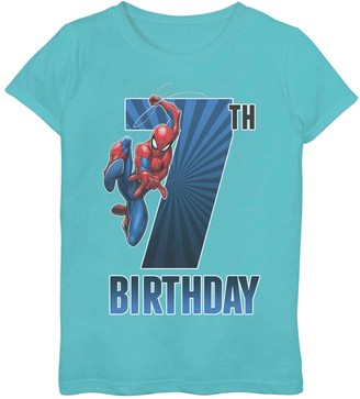 Spiderman Licensed Character Girls 7-16 Marvel 7th Birthday Tee