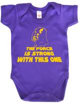 Dirty Fingers, The Force is strong with this one, Baby Girl Bodysuit, 6-12m
