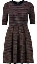 M Missoni Pleated Knitted Mini Dress
