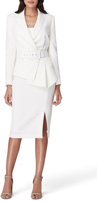 Tahari Two-Piece Asymmetrical Belted Suit