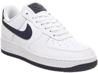 Nike Force 1 07 Trainers White Obsidian White Ocean Cube