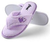 Aerusi's Relax Splash Spa Cute Light Lilac Women's Warm Lazy Lounging Soft Home Slippers Slip-Ons (Size XL: 10-11 US Size)