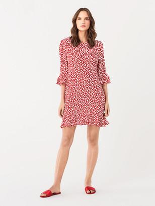 Diane von Furstenberg Elly Two Crepe Mini Dress