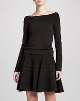 Donna Karan Flirty Striped Skirt, Flint