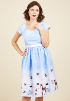 ModCloth Hell Bunny Work Wonderlands Cotton Dress in M