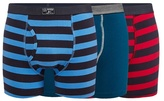 Mantaray Pack Of Three Assorted Striped Keyhole Trunks
