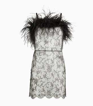 Gilda and Pearl Lace Feather-Trim Nightdress