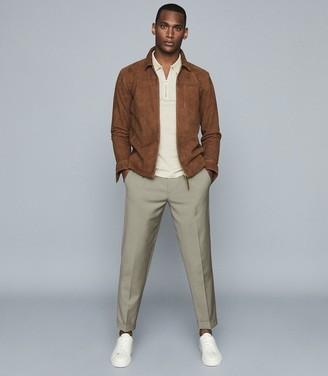 Reiss Jude - Mercerised PiquA Cotton Polo Shirt in Stone