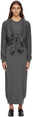 Lemaire Grey Merino Cardigan Dress