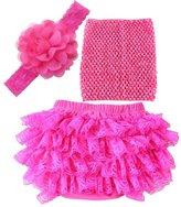 Kinghard® Kinghard 1 Set Baby Diaper Cover Newborn Flower Headband+ Vest+Tutu Skirt (S, )
