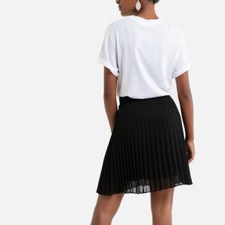 Sud Express Pleated Mini Skirt with Elasticated Waist