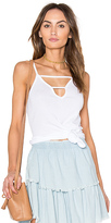 Bobi Modal Rib Cut Out Tank in White. - size L (also in )