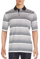 Bugatchi Multistriped Cotton Polo Shirt