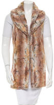 Alice + Olivia Faux Fur Shawl Collar Vest w/ Tags