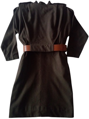 Basile Brown Wool Dress for Women Vintage