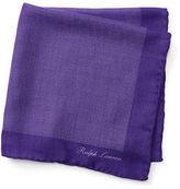Ralph Lauren Purple Label Pin-Dot Cashmere Pocket Square