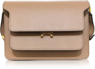 Marni Saffiano Leather Trunk Shoulder Bag