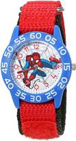 Marvel Boy's 'Spider-Man' Quartz Plastic and Nylon Automatic Watch, Color: (Model: W003232)