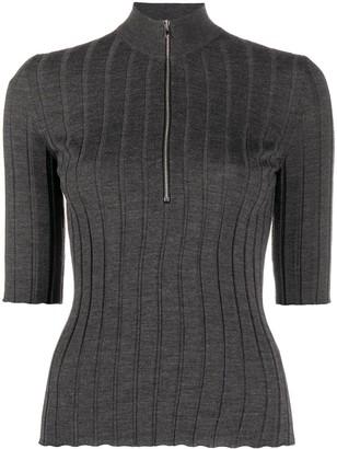 Mrz Ribbed-Knit Zipped Top