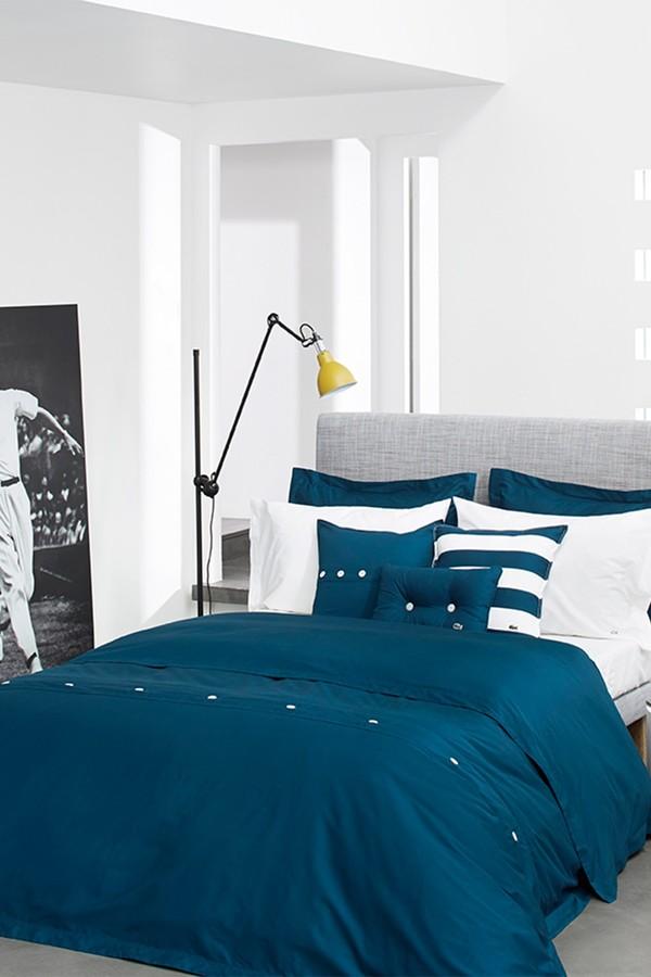 Lacoste Brushed Twill Pillow - 18 x 18 - Poseidon