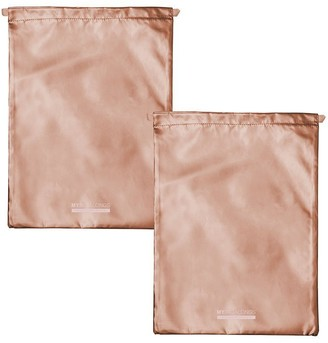 Mytagalongs Odyssey Set Of 2 Drawstring Bags - Rose Gold