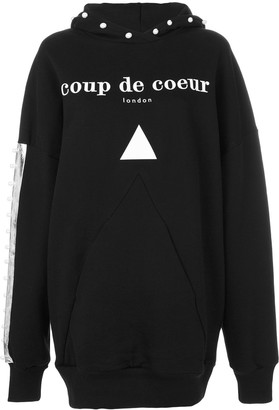 Coup De Coeur Logo Hooded Sweatshirt