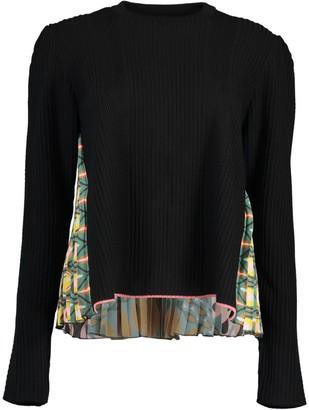 La DoubleJ Pleated Print Back Super Sweater