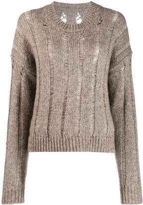 UMA WANG ladder knit jumper