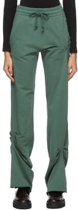 Dries Van Noten Green Ruched Lounge Pants