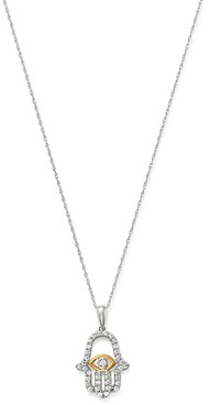 Bloomingdale's Diamond Hamsa Pendant Necklace in 14K Yellow & White Gold, 0.25 ct. t.w. - 100% Exclusive
