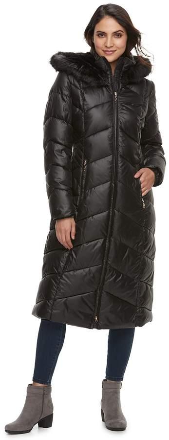 Gallery Women's Hooded Long Puffer Jacket