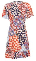 Dorothy Perkins Womens Multi Colour Floral Print Cutabout Fit And Flare Dress