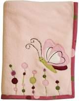 Lambs & Ivy Raspberry Swirl Blanket