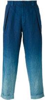 Blue Blue Japan gradient trousers - men - Linen/Flax - S