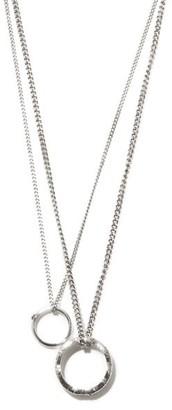 Alexander McQueen Molten Brass Double Necklace - Silver