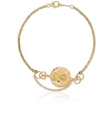 Anissa Kermiche metallic 18K gold coin diamond bracelet