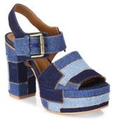 See by Chloe Tara Denim Platform Slingback Sandals