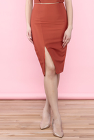 Do & Be Burnt Orange Pencil Skirt